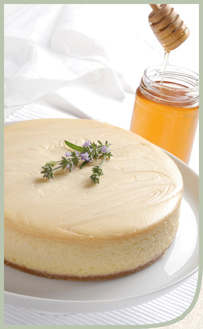 with honey lavender roasted persimmons lavender yogurt cheesecake with ...
