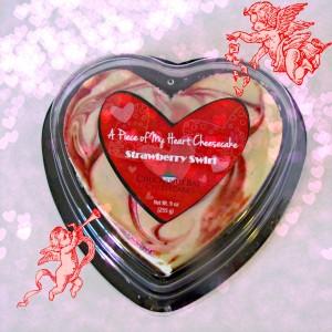 Strawberry Heart Cheesecake