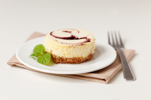 Blueberry Key Lime 4 oz Plated with Fork