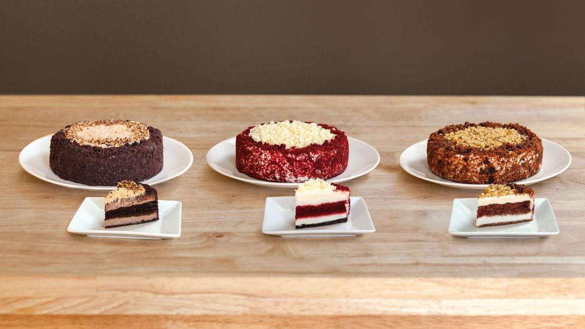 Layered Red Velvet Cake And Cheesecake Recipe