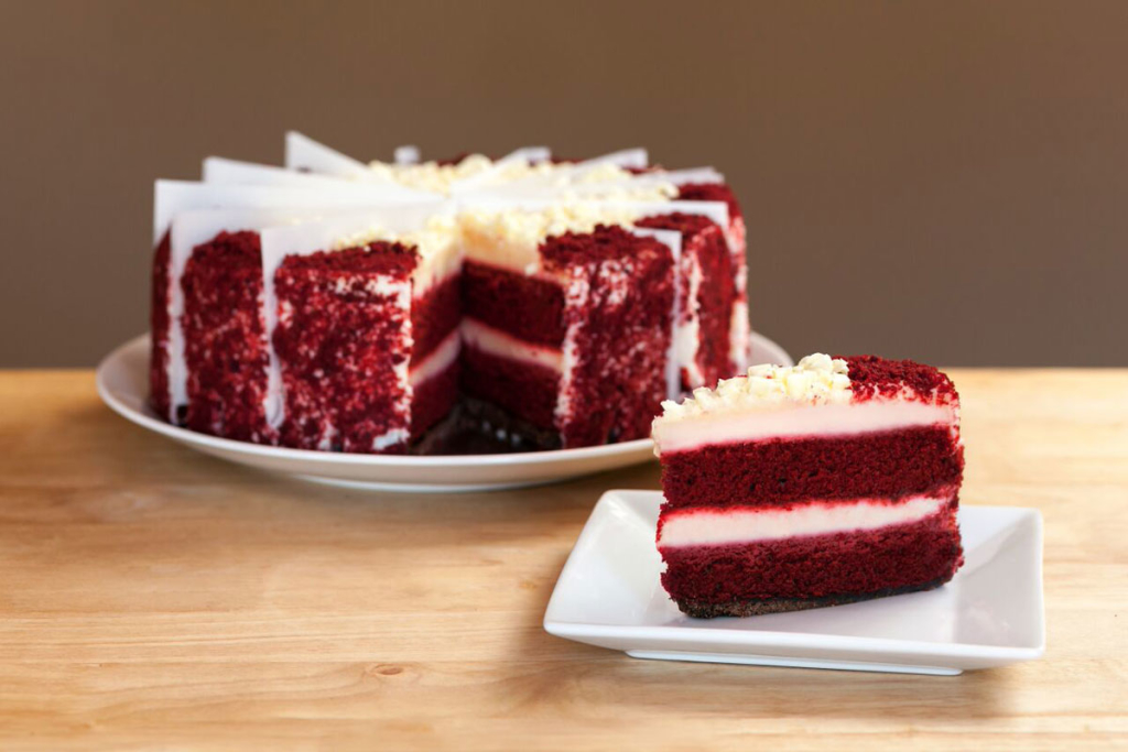 Red-Velvet-Cheesecake-Whole-Sliced-Plated-with-Slice-in-front